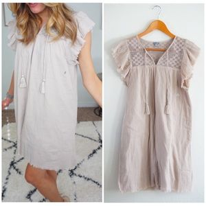 NWOT aerie size xs linen lined mesh dress ❤️